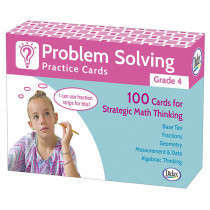 DD-211280 - Problem Solving Practice Cards Gr 4 in Flash Cards