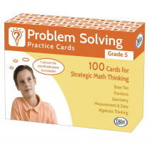 DD-211281 - Problem Solving Practice Cards Gr 5 in Flash Cards