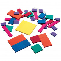 DD-2484 - Foam Fraction Squares in Fractions & Decimals