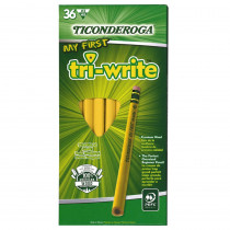 DIX13082 - My First Tri Write 36Ct Pencils With Eraser in Pencils & Accessories
