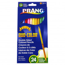 Duo Colored Pencils, 24 Color Set - DIX22112 | Dixon Ticonderoga Company | Colored Pencils
