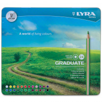 Graduate Colored Pencils, Metal Box of 24 - DIX2871240 | Dixon Ticonderoga Company | Colored Pencils