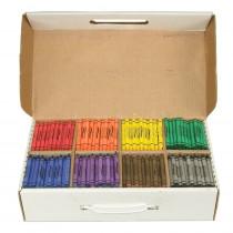 Crayons Master Pack, 8 Colors (100 Each), 800 Count - DIX32350 | Dixon Ticonderoga Company | Crayons