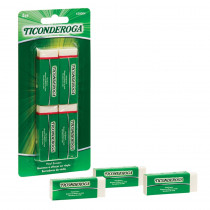 Vinyl Block Erasers, White, 4 Count - DIX38004 | Dixon Ticonderoga Company | Erasers