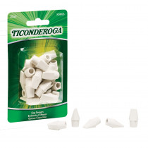 Wedge Cap Erasers, White, 25 Count - DIX38025 | Dixon Ticonderoga Company | Erasers