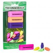 Eraser Combo Set, Neon, 3 Beveled, 12 Wedge Cap - DIX38931 | Dixon Ticonderoga Company | Erasers