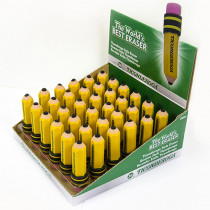 DIX38936 - Ticonderoga 36 Pk Pencil Shaped Erasers in General