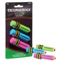 Pencil Shaped Neon Erasers, 3 Count - DIX38963 | Dixon Ticonderoga Company | Erasers