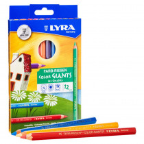 Color Giant Colored Pencils, 6.25mm, Lacquered, 12 Colors - DIX3941120 | Dixon Ticonderoga Company | Colored Pencils