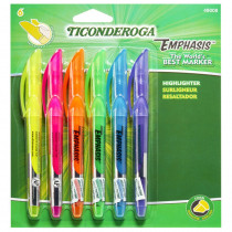 Emphasis Pocket Style Highlighters, 6-Color Set - DIX48008 | Dixon Ticonderoga Company | Highlighters
