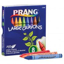 Crayons, Large, Lift Lid Box, 8 Colors - DIX51800 | Dixon Ticonderoga Company | Crayons