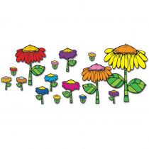 DJ-610025 - Flower Garden Bulletin Board Set in Classroom Theme