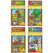 DJ-610038 - Four Seasons Windows Bulletin Board Set Set in Holiday/seasonal