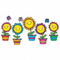 DJ-610049 - Blooming Flowers Bulletin Board Set in Classroom Theme