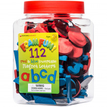 DO-733103 - Foam Fun Red & Blue Lowercase Magnet Letters in Magnetic Letters