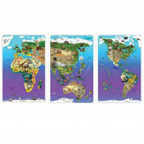 DO-734130 - Wildlife Map Puzzle Bundle Set Of 3 in Puzzles