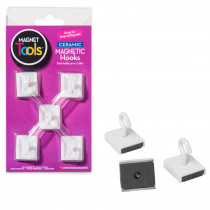 DO-735008 - Ceramic Ceiling Hooks Set Of Five in Clips