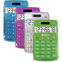 DTXDH60C4 - Handheld Eco Calculator Assorted in Calculators
