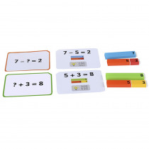 EA-311 - Number Rods Work Cards in Blocks & Construction Play