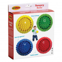EDS705174 - Sensory Ball 4In - Set Of 4 in Hands-on Activities