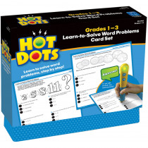 EI-2765 - Hot Dots Learn To Solve Word Problem Set Gr 1-3 in Hot Dots