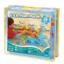 EI-4809 - Usa Foam Map Puzzle in Crepe Rubber/foam Puzzles