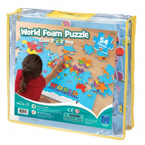 EI-4810 - World Foam Map Puzzle in Crepe Rubber/foam Puzzles
