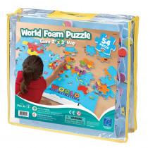 EI-4810 - World Foam Map Puzzle in Crepe Rubber/foam Puzzles
