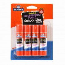 ELME543 - Elmers 4Pk School Purple Glue Sticks Disappearing Washable in Glue/adhesives
