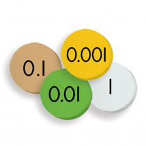 ELP626635 - 4-Value Decimals To Whole Number Place Value Discs Set 100 Discs in Manipulative Kits
