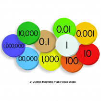 ELP626640 - 10-Value Jumbo Magnetic Place Value Demonstration Discs in Manipulative Kits