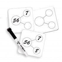 ELP626649 - Write On Wipe Off Number Bonds Cards in Dry Erase Sheets