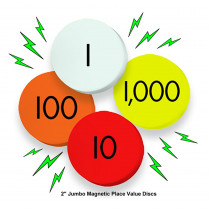 ELP626656 - 4-Value Jumbo Magnetic Place Value Demonstration Discs in Manipulative Kits