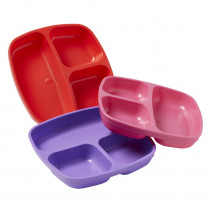 Divided Plates, Berry, Set of 3 - ELR18101BE | Ecr4kids, L.P. | Homemaking