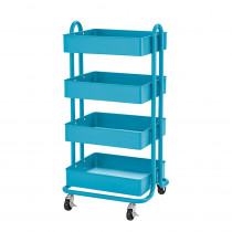 ELR20702TQ - 4-Tier Util Rolling Cart Turquoise in Storage