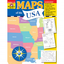 EMC3721 - Maps Of The Usa in Maps & Map Skills