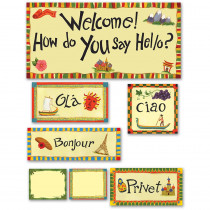 EP-2264 - Multicultural Hello Bulletin Board Set in Social Studies