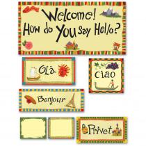 EP-2264 - Multicultural Hello Bulletin Board Set in Social Studies