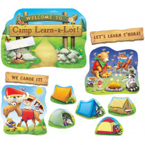 EP-2290 - Camp Learn A Lot Bulletin Board Set in Classroom Theme