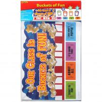EP-2296 - Buckets Of Fun Bulletin Board Set in Classroom Theme