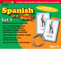 EP-2344 - Spanish In A Flash Set 3 in Flash Cards