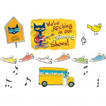 EP-2383 - Were Rocking In Our Learning Shoes Bulletin Board Set Featuring Pete The Cat in Classroom Theme