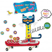 EP-2384 - 100 Groovy Days Of School Bulletin Board Set Featuring Pete The Cat in Classroom Theme