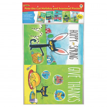 EP-238 - Pete The Cat Holiday And Seasonal Poster Set in Holiday/seasonal