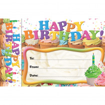 EP-3024 - Happy Birthday Cupcakes Bookmark Award in Bookmarks