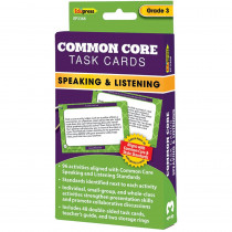 EP-3366 - Common Core Task Cards Speaking & Listening Gr 3 in Language Skills