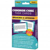 EP-3368 - Common Core Task Cards Speaking & Listening Gr 5 in Language Skills