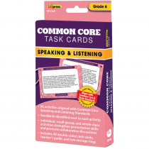 EP-3369 - Common Core Task Cards Speaking & Listening Gr 6 in Language Skills