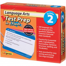 EP-3465 - Language Arts Gr 2 Test Prep In A Flash in Language Arts