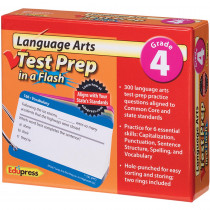EP-3467 - Language Arts Gr 4 Test Prep In A Flash in Language Arts